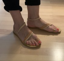 Strapped Sandals beige leather