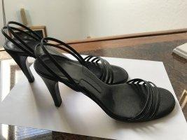 Riemchen Sandalette mit Absatz, schwarz, Bally