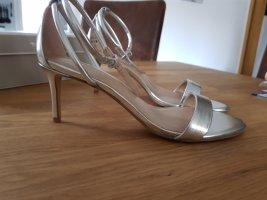 Esprit Sandalen met bandjes en hoge hakken zilver