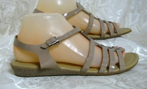 Riemen Sandalen Sandalette Größe 39 Lack Hellbraun Freizeit