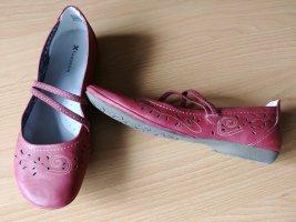 Pascottini Ballerina's met bandjes baksteenrood