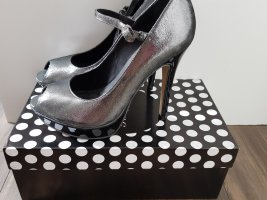 Buffalo High Heels silver-colored-anthracite