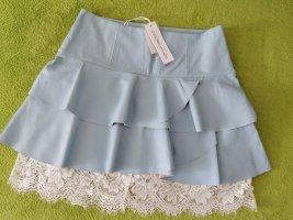 Rinascimento Faux Leather Skirt white-azure leather