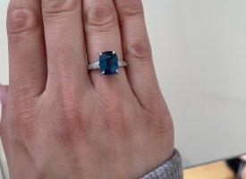 Lia Vie Srebrny pierścionek srebrny-niebieski