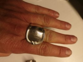 Handmade Statement Ring silver-colored