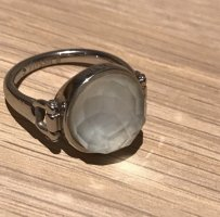 Fossil Statement Ring silver-colored-white