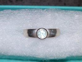 Unbekannte Marke Silver Ring silver-colored-baby blue