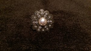 Ring Blume Bronze Perle 17 mm Blogger