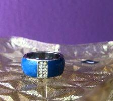 borelli Srebrny pierścionek srebrny-niebieski