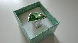 Pierre Lang Anillo de cuentas color plata-verde