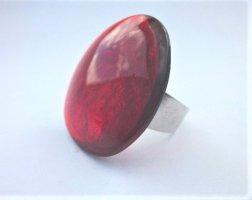 Culture Mix Statement ring lichtgrijs-baksteenrood