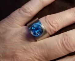 xen Zdobiony pierścionek srebrny
