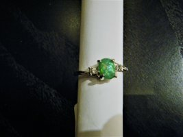 Ring grün Gr. 19 NEU