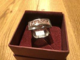 Ring mit rosa Steinen | 925er Silber | Innenmaß ca. 17,7 mm
