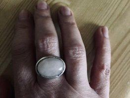 ring mit rosenquarz, sterlingsilber