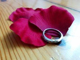 Ring mit Zirkonia matt und glänzend edel Verlobung Gr. 54 NEU