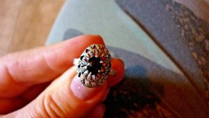 Ring Mittelalter Stil Larp 1,7 cm innen Silber