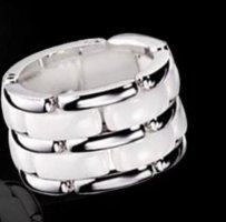 Ring NEU mit Verpackung Edel*stahl & Keramik Größe 20