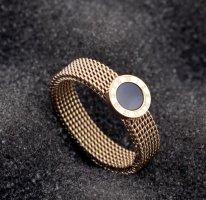 Ring Roségold Farbe Edel*stahl Größe 54/17mm NEU mit Verpackung
