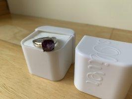 s.Oliver Srebrny pierścionek srebrny-ciemny fiolet