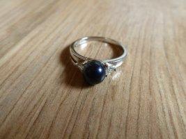 Ring Silber 925 Perle dunkelblau 54 17,25mm