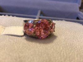 Christ Silver Ring magenta