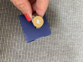 Anello d'argento argento-oro