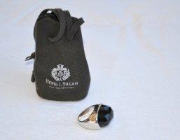 Ring Silber / Onyx von Henri Sillam