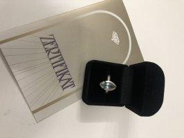 Srebrny pierścionek srebrny-jasnoniebieski