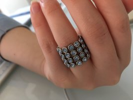 Swatch Anello d'argento argento-azzurro