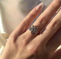 KD Złoty pierścionek złoto-biały