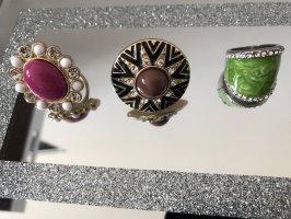 Zilveren ring zwart-goud