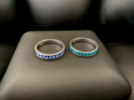 Ringe, Swarovski, Silber, Größe 52