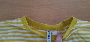 H&M T-shirt rayé jaune-blanc