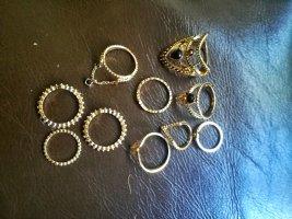 H&M Statement ring zwart-goud