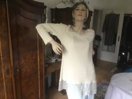 Deerberg Long Shirt natural white-cream cotton