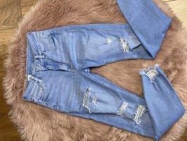 Bershka High Waist Jeans azure-blue