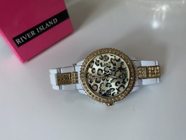 River Island Watch With Metal Strap multicolored