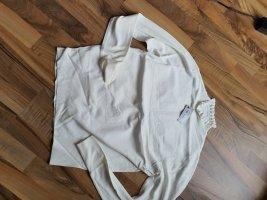River Island Sweter bez rękawów z cienkiej dzianiny biały