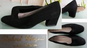 Robert Clergerie Pumps Gr. 37 schwarz Leder