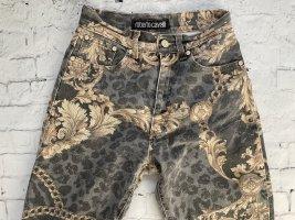 Roberto Cavalli Jeans a vita alta grigio-color cammello