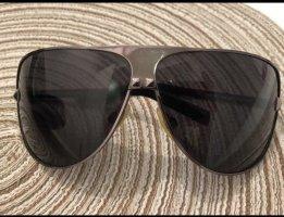 Roberto Cavalli Owalne okulary przeciwsłoneczne czarny-srebrny