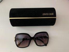 Roberto Cavalli Hoekige zonnebril zwart-goud Oranje