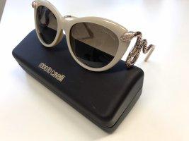Roberto Cavalli Gafas de sol ovaladas crema-color plata