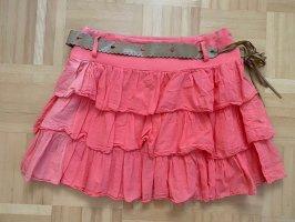 Miniskirt apricot-salmon
