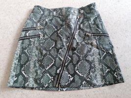 Bershka Faux Leather Skirt multicolored