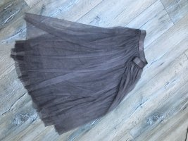 Falda de tul gris-gris oscuro