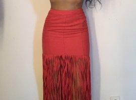 Spódnica z frędzlami czerwony