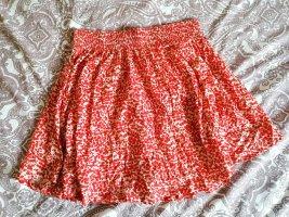 H&M Skaterska spódnica biały-czerwony Bawełna