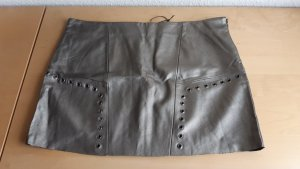 Faux Leather Skirt camel